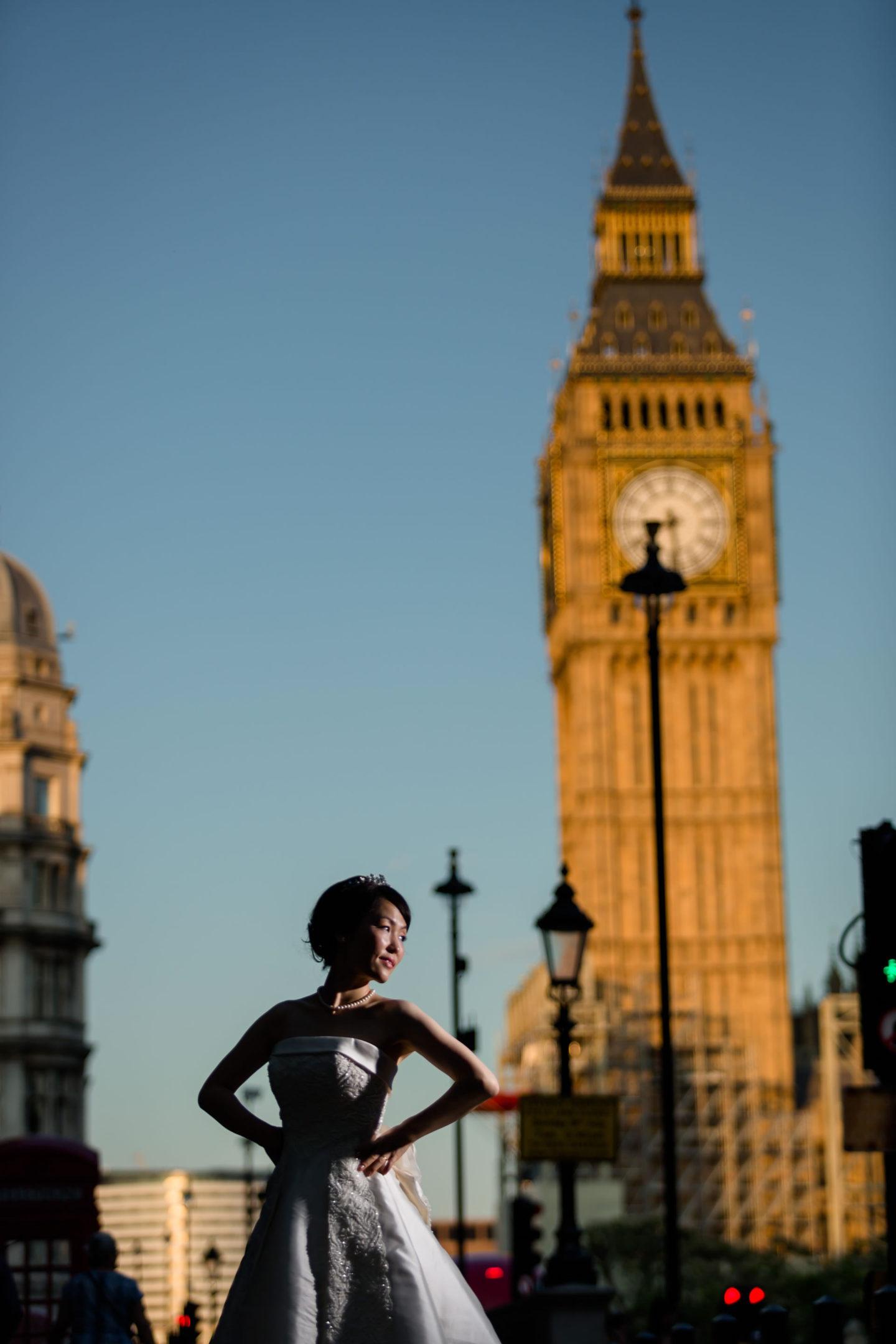 London :: Bride alone :: David Bastianoni wedding photographer