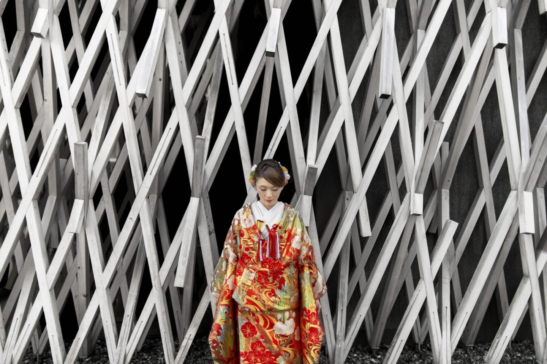 Japanesefashion :: Bride alone :: David Bastianoni wedding photographer