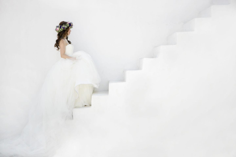 White :: Bride alone :: David Bastianoni wedding photographer