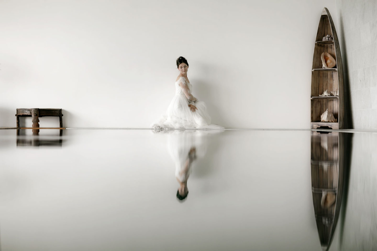 Reflex :: Bride alone :: David Bastianoni wedding photographer