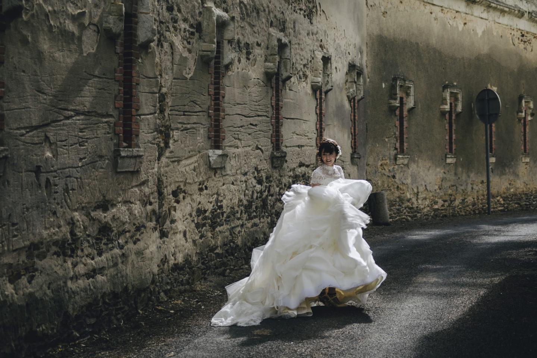 Roll :: Bride alone :: David Bastianoni wedding photographer