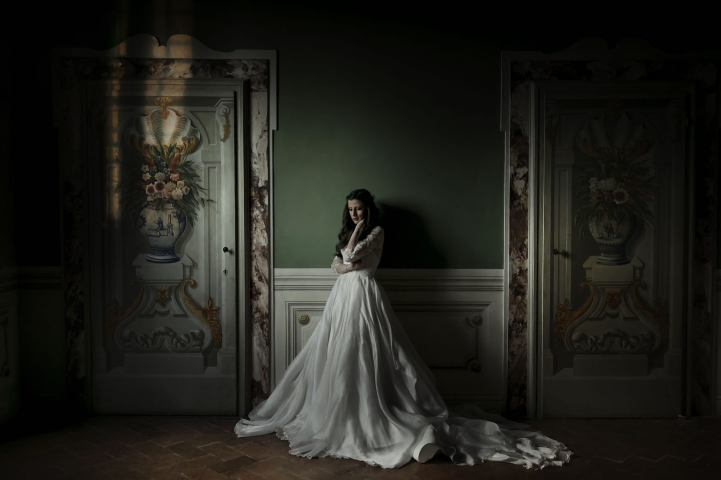 Drama :: Bride alone :: David Bastianoni wedding photographer