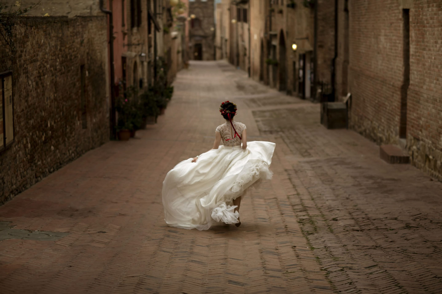 Rush :: Bride alone :: David Bastianoni wedding photographer