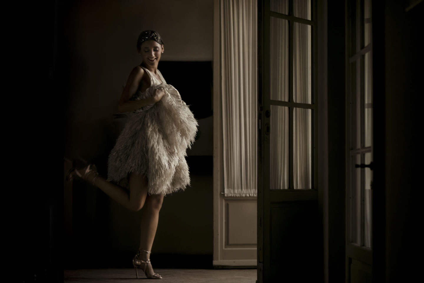 Dancer :: Bride alone :: David Bastianoni wedding photographer