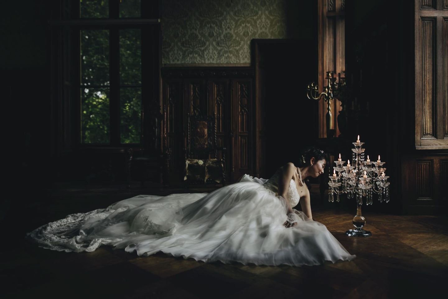 Indoor :: Bride alone :: David Bastianoni wedding photographer