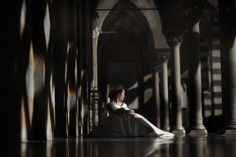 Perspective :: Bride alone :: David Bastianoni wedding photographer