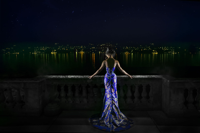 Lake :: Bride alone :: David Bastianoni wedding photographer