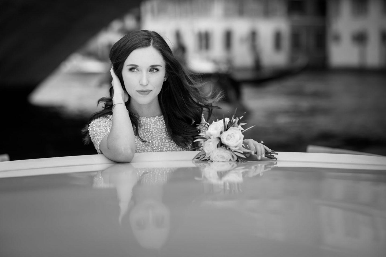 Venice :: Bride alone :: David Bastianoni wedding photographer