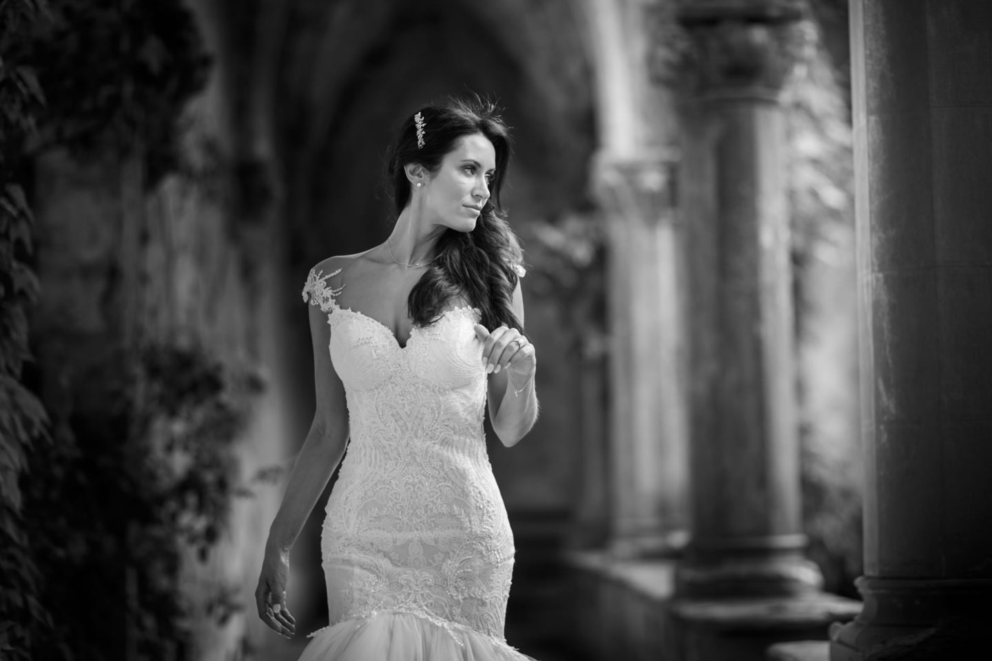 Pretty :: Bride alone :: David Bastianoni wedding photographer