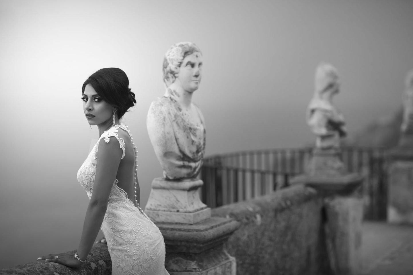 Ravello :: Bride alone :: David Bastianoni wedding photographer