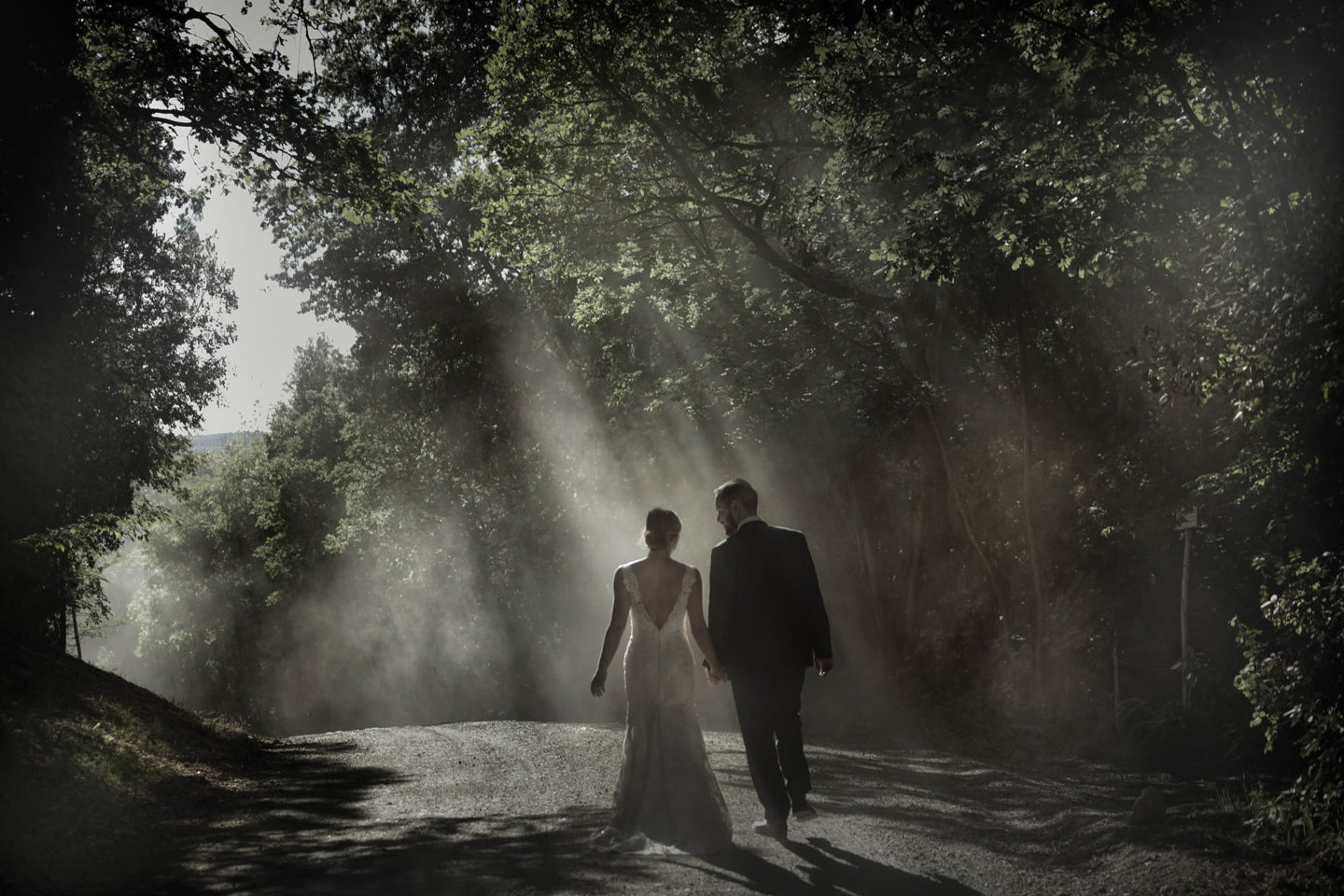 Beams Of Light :: Bride and groom. Couple :: David Bastianoni wedding photographer