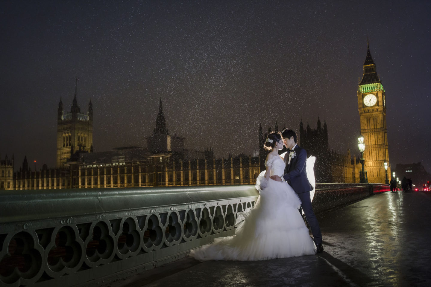 London By Night :: Bride and groom. Couple :: David Bastianoni wedding photographer