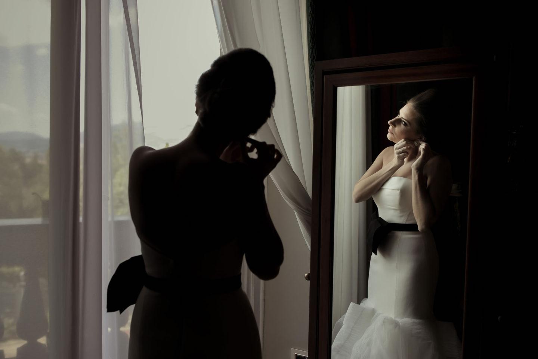Mirror :: Getting ready :: David Bastianoni wedding photographer
