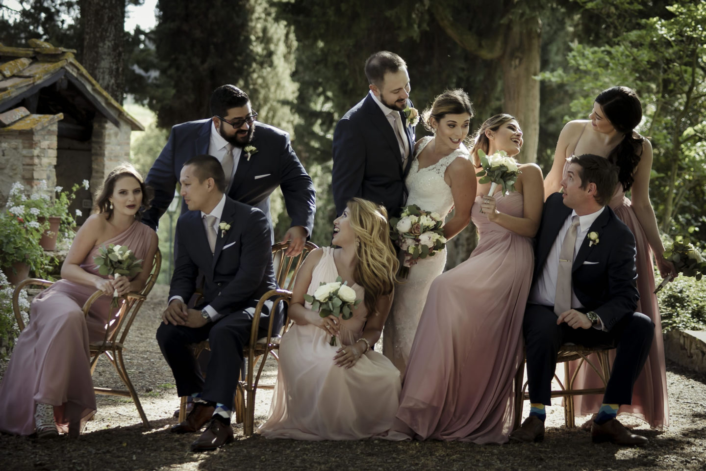 Pink :: Groups Bridal Parties :: David Bastianoni wedding photographer