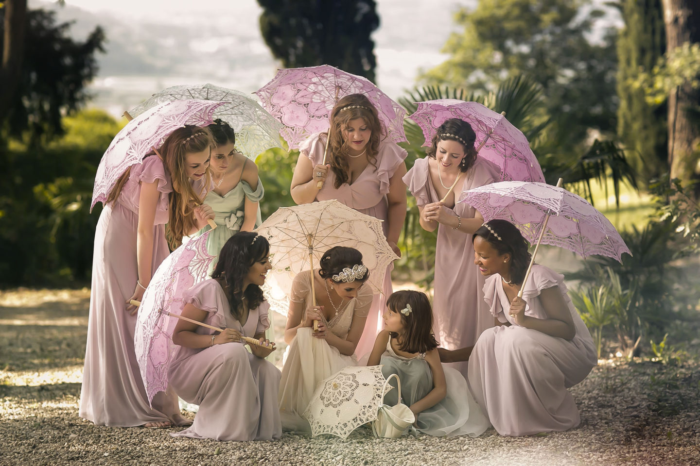 Parasol :: Groups Bridal Parties :: David Bastianoni wedding photographer