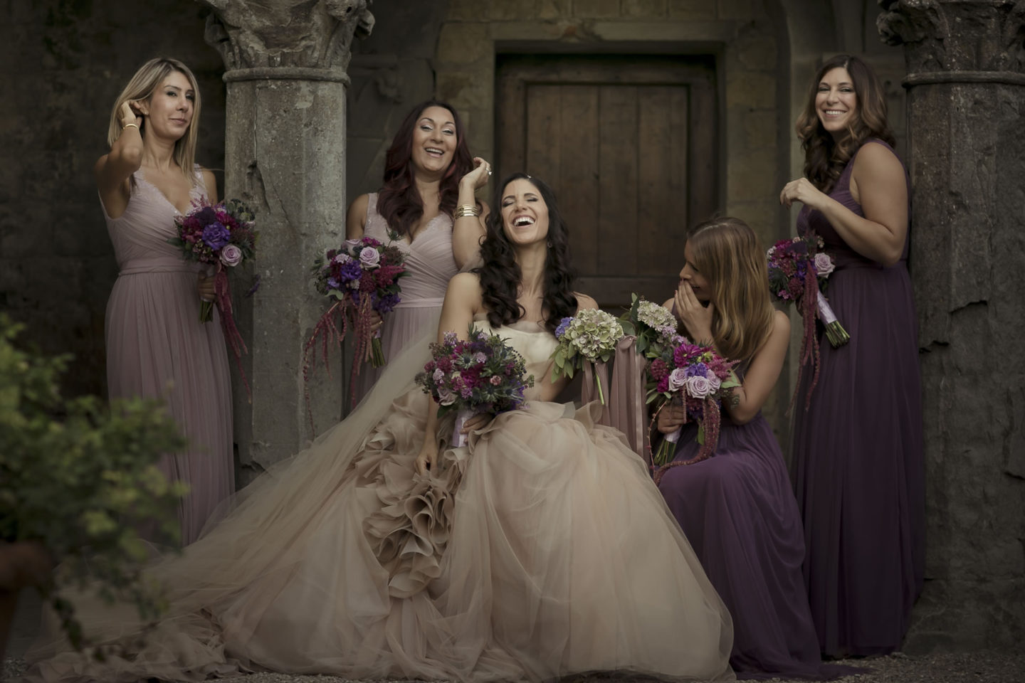 Purple :: Groups Bridal Parties :: David Bastianoni wedding photographer