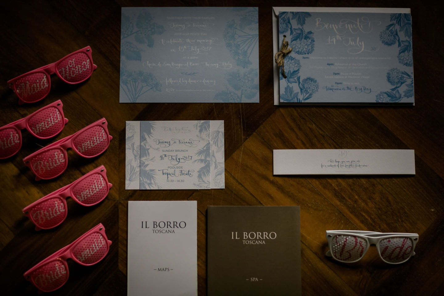 Glasses :: Amazing wedding day at Il Borro :: Luxury wedding photography - 1 :: Glasses
