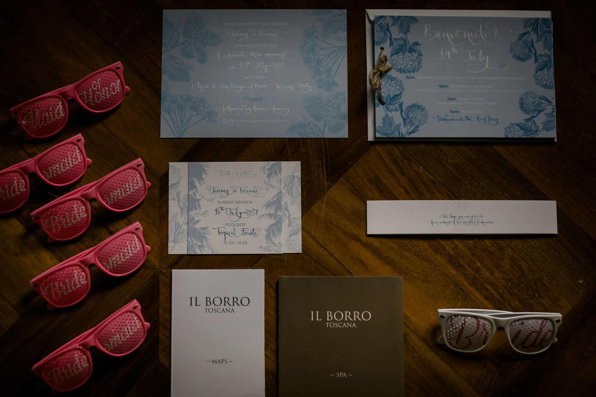 Glasses - 2 :: Amazing wedding day at Il Borro :: Luxury wedding photography - 1 :: Glasses - 2
