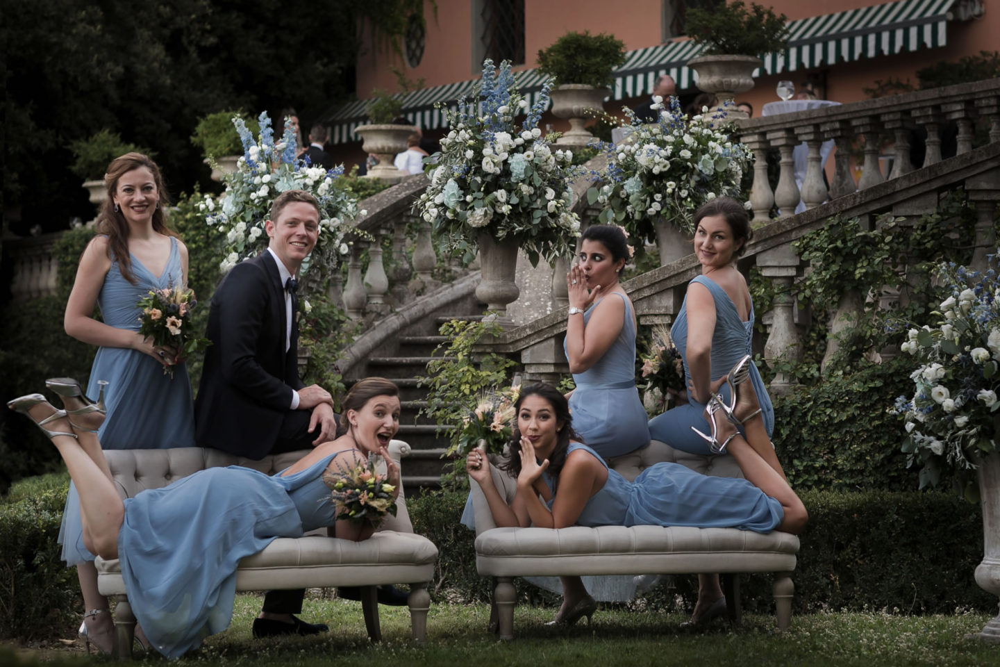 Bridesmaids :: Amazing wedding day at Il Borro :: Luxury wedding photography - 38 :: Bridesmaids