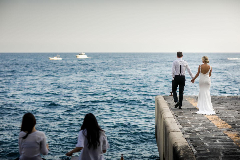 Pier :: Wedding in Positano. Sea and love :: Luxury wedding photography - 40 :: Pier