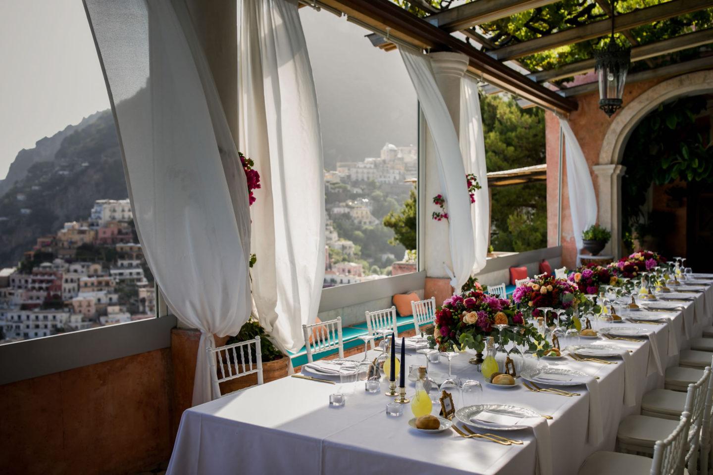 Table :: Wedding in Positano. Sea and love :: Luxury wedding photography - 53 :: Table