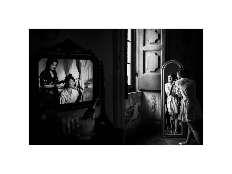Black and white wedding_ Castello di Meleto :: Photo - 3