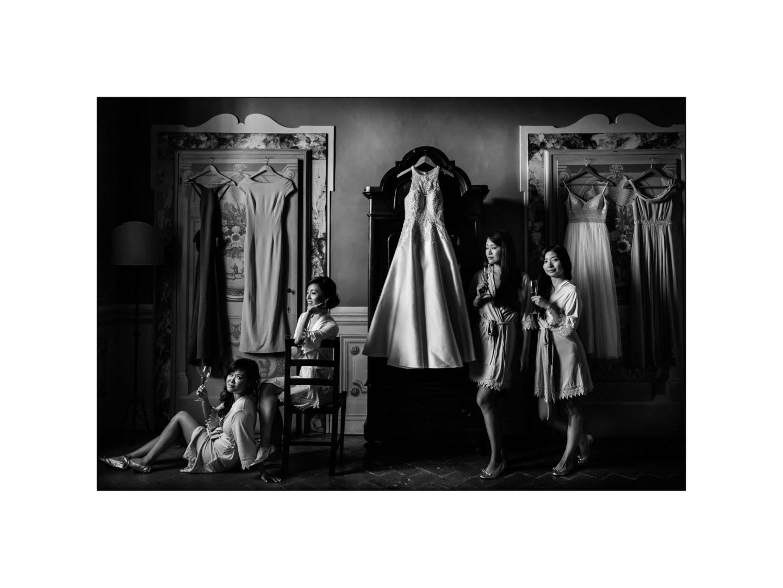 Black and white wedding_ Castello di Meleto :: Photo - 5