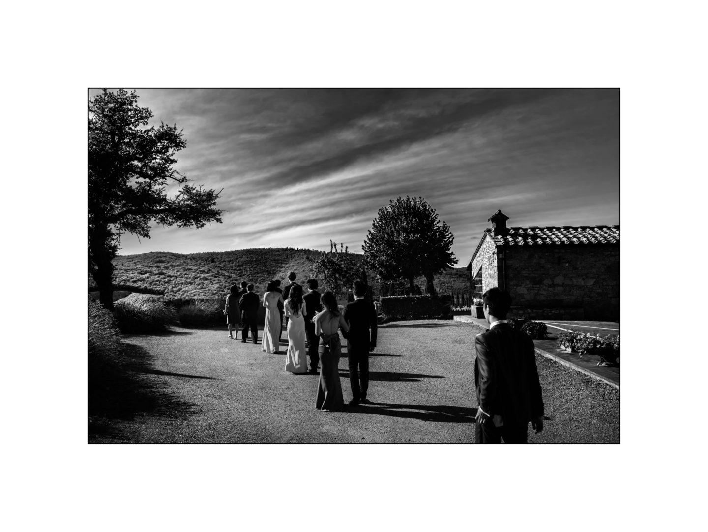 Black and white wedding_ Castello di Meleto :: Photo - 14