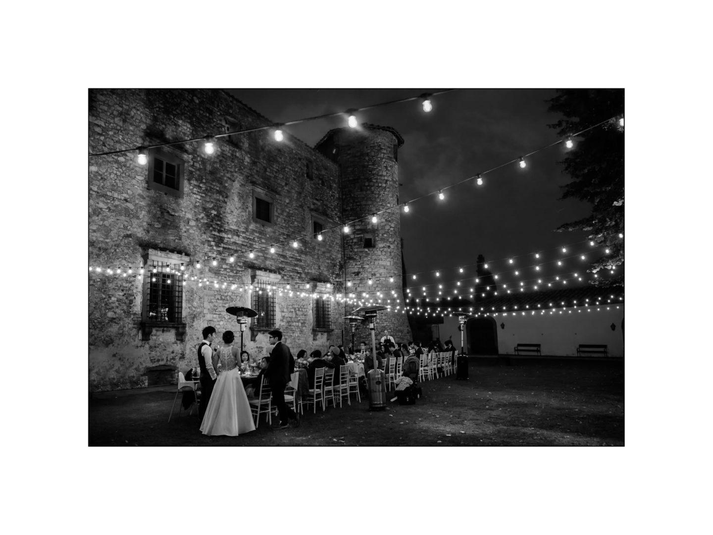 Black and white wedding_ Castello di Meleto :: Photo - 39