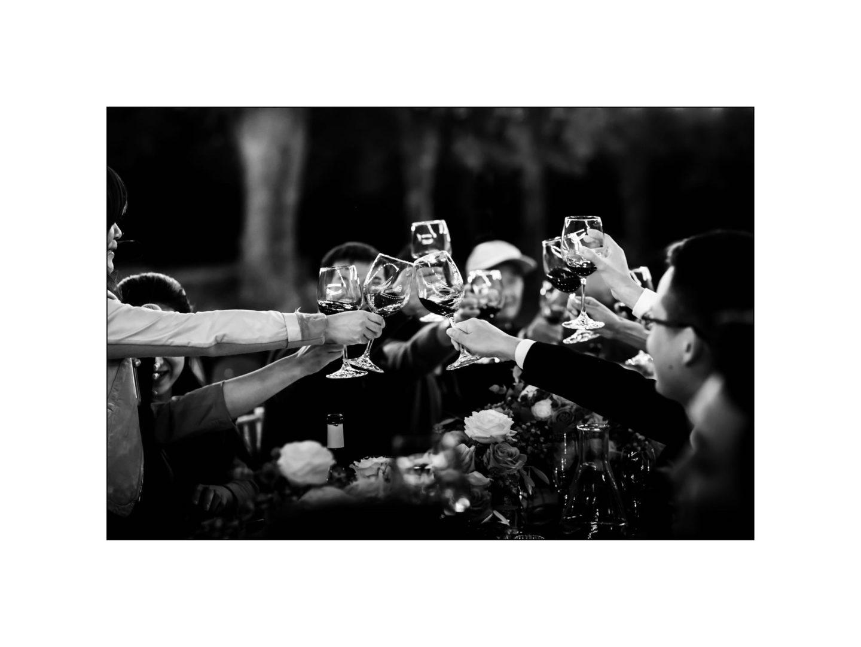 Black and white wedding_ Castello di Meleto :: Photo - 42
