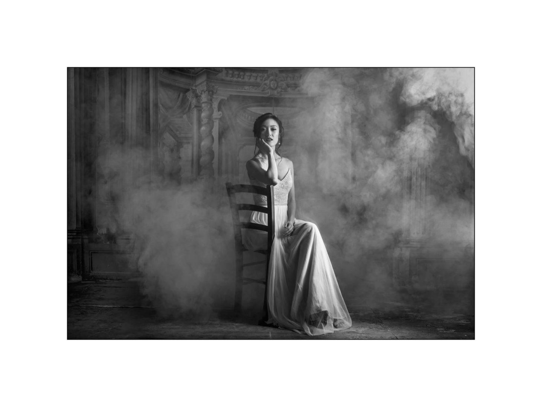 Black and white wedding_ Castello di Meleto :: Photo - 45