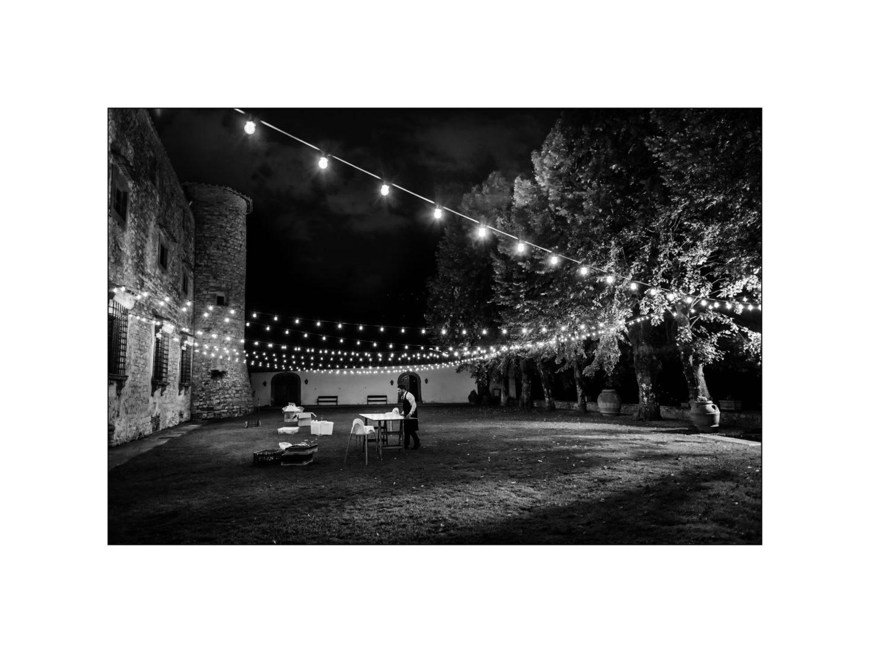 Black and white wedding_ Castello di Meleto :: Photo - 48