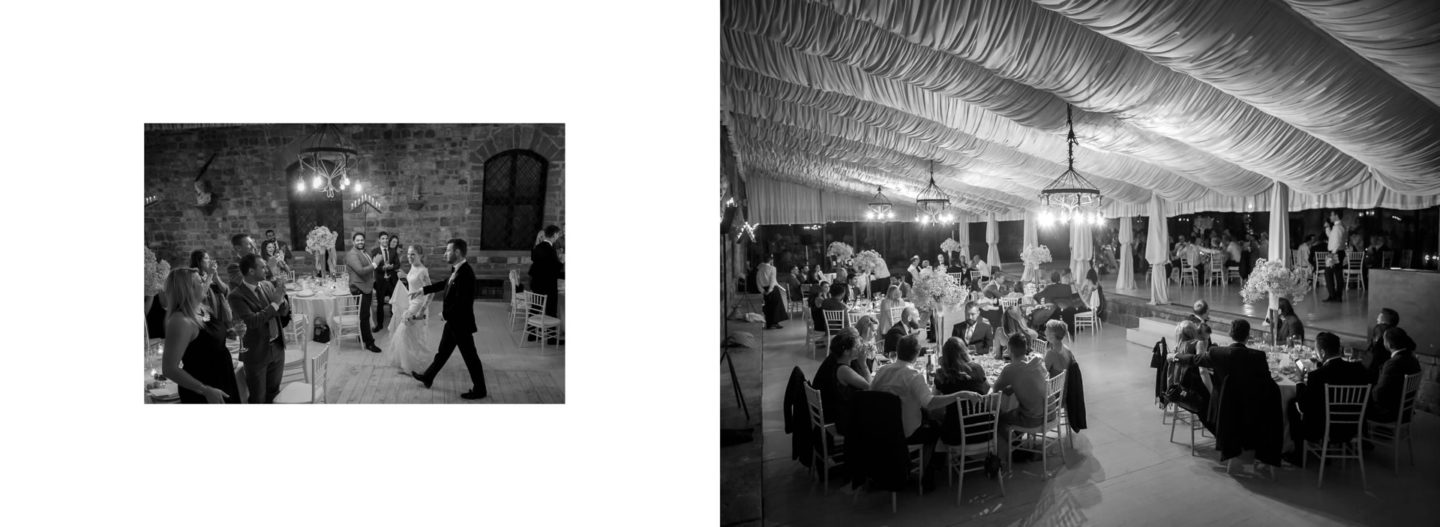 Dinner :: Getting married in Tuscany at Vincigliata Castle :: Luxury wedding photography - 64 :: Dinner