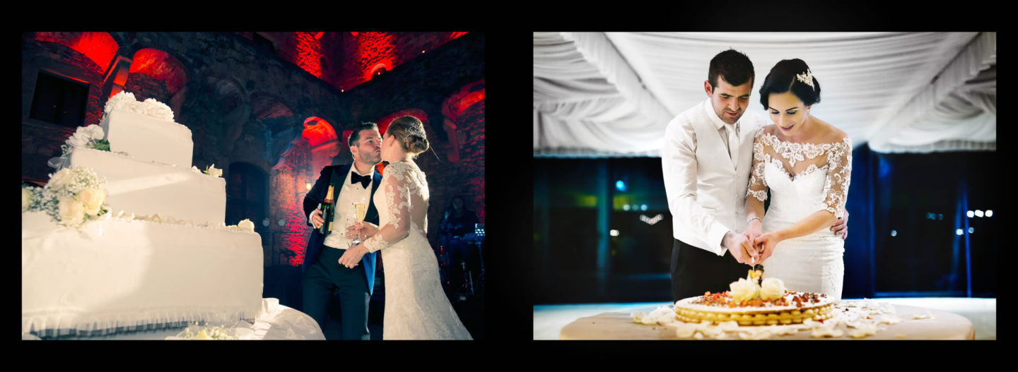 Cake Cut :: Getting married in Tuscany at Vincigliata Castle :: Luxury wedding photography - 73 :: Cake Cut