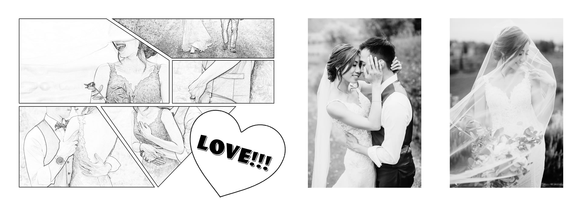Third place in the  :: He loves picture, she loves manga: we love Las Vegas and WPPI! :: Luxury wedding photography - 25 :: Third place in the