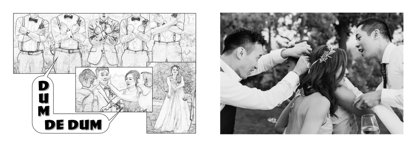 "Third place in the ""album division wedding multiple photograpers"" at WPPI in Las Vegas, 2019 :: He loves picture, she loves manga: we love Las Vegas and WPPI! :: Luxury wedding photography - 34 :: Third place in the ""album division wedding multiple photograpers"" at WPPI in Las Vegas, 2019"